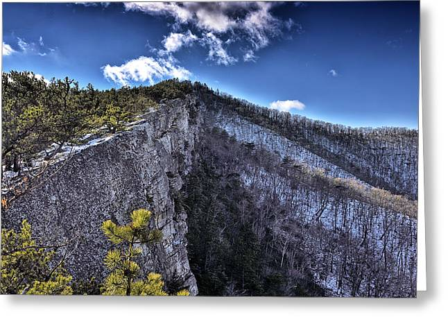 Cliffs Along North Fork Mountain Trail - West Virginia Greeting Card by Brendan Reals