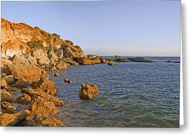 Cliffs At Coast, Conil De La Frontera Greeting Card by Panoramic Images