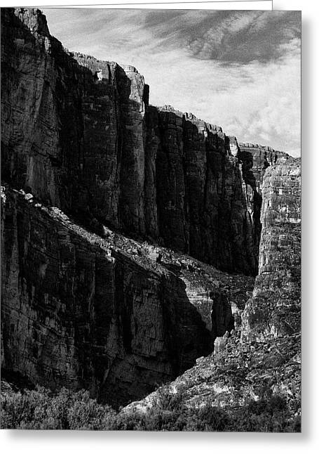 Cliffs In Contrast Greeting Card