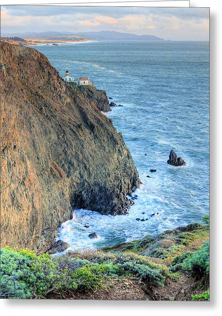 Cliffs Greeting Card by JC Findley