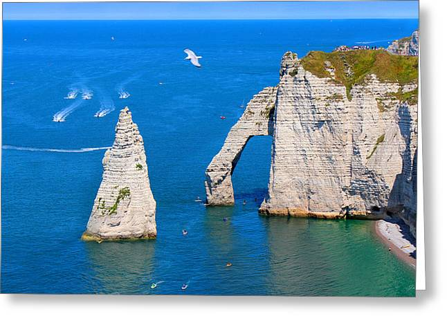 Cliffs Of Etretat France Greeting Card