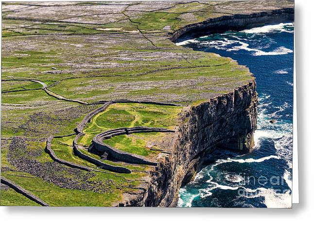 Cliffs Of Inishmoore Greeting Card by Juergen Klust