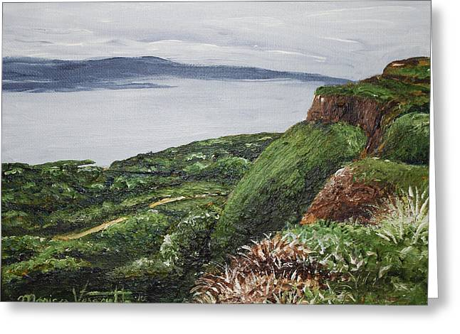Cliffs Of Magho Greeting Card by Monica Veraguth