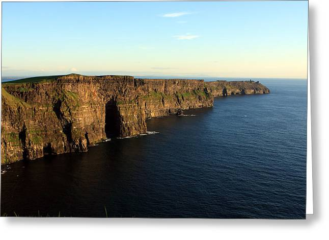Cliffs Of Moher Greeting Card by Aidan Moran