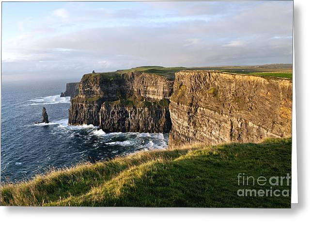 Cliffs Of Moher Evening Light Greeting Card
