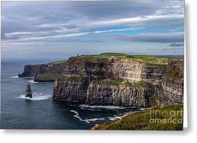 Greeting Card featuring the photograph Cliffs Of Moher I by Juergen Klust
