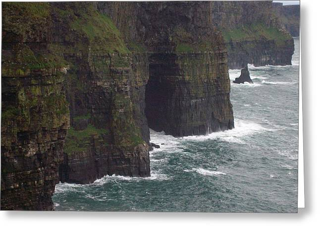 Greeting Card featuring the photograph Cliffs Of Moher Ireland by Alan Lakin