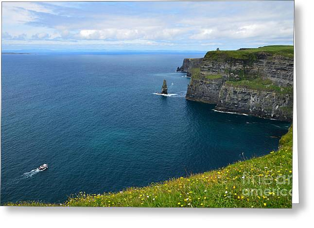 Cliffs Of Moher Looking North Greeting Card by RicardMN Photography