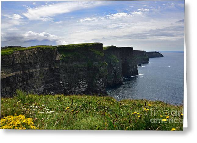 Cliffs Of Moher Looking South Greeting Card by RicardMN Photography