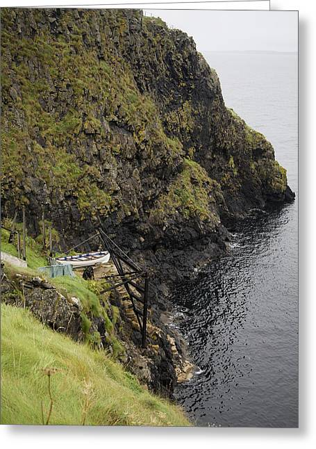 Cliffside Carrick-a-rede Northern Ireland Greeting Card by Betsy Knapp