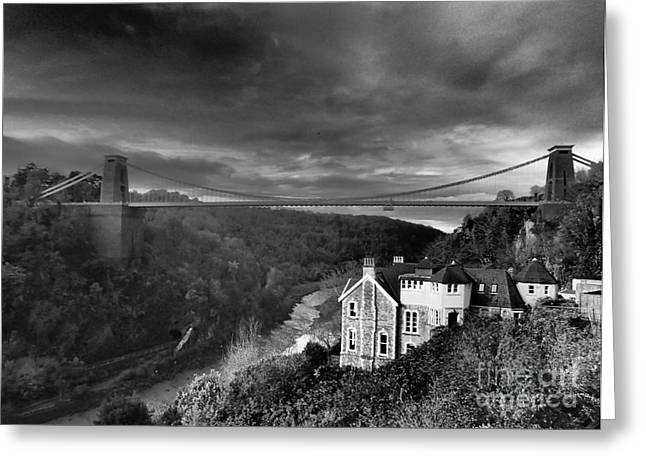 Clifton Suspension Bridge Greeting Card by Michael Canning