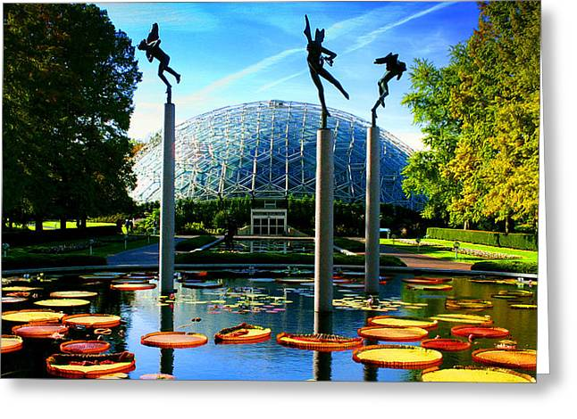 Climatron Geodesic Dome Landscape Greeting Card