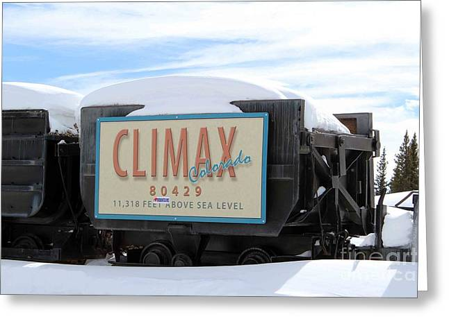 Greeting Card featuring the photograph Climax Colorado by Fiona Kennard