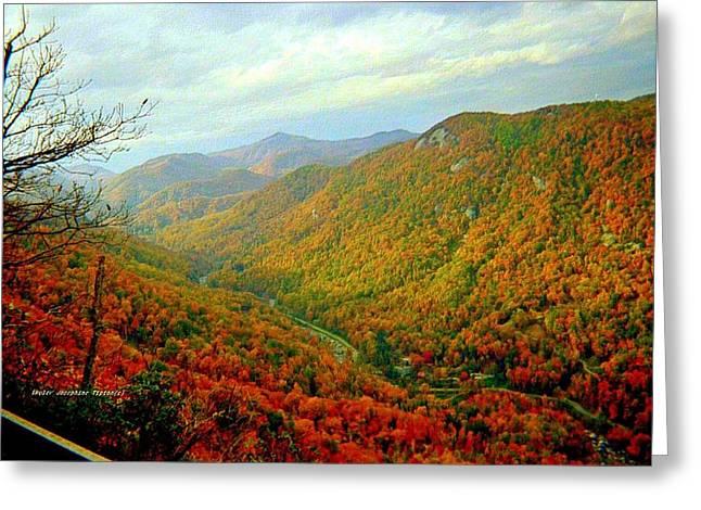 Climb Though Mountains Greeting Card by Skyler Tipton