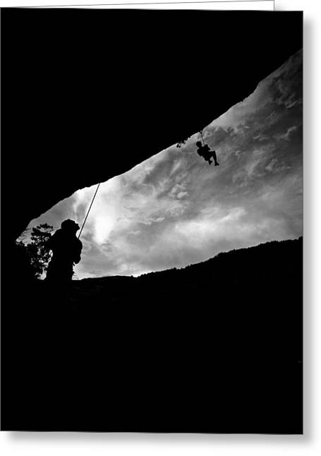 Climber Silhouette 1 Greeting Card by Chase Taylor