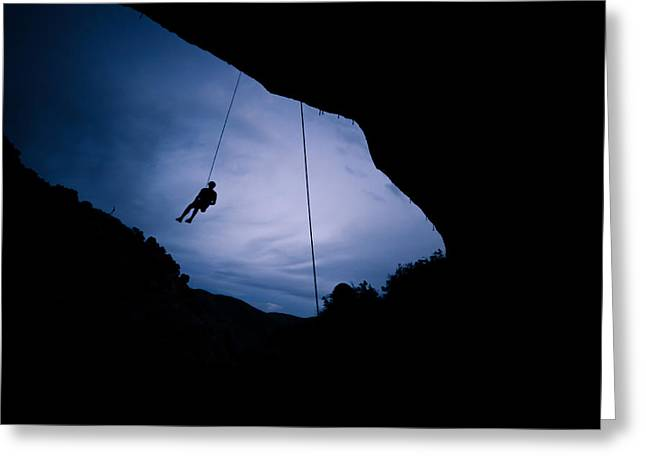Climber Silhouette 2 Greeting Card by Chase Taylor