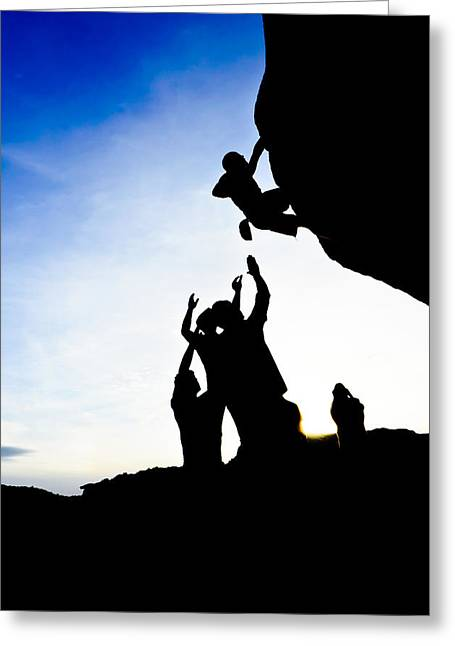 Climber Silhouette 3 Greeting Card by Chase Taylor