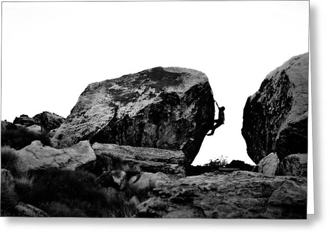 Climber Silhouette 4 Greeting Card by Chase Taylor