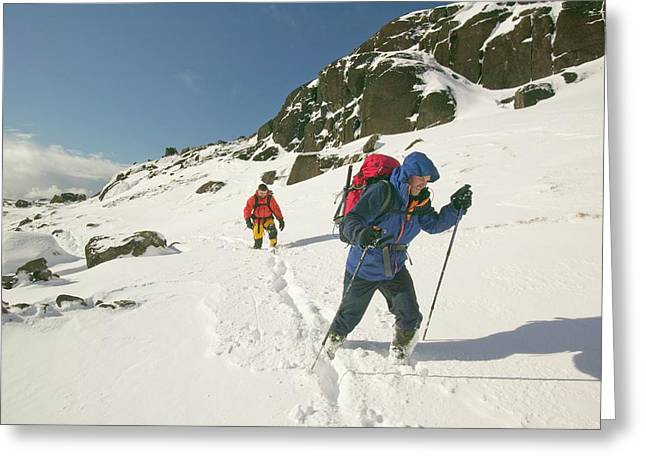 Climbers In Coire Lagan Greeting Card