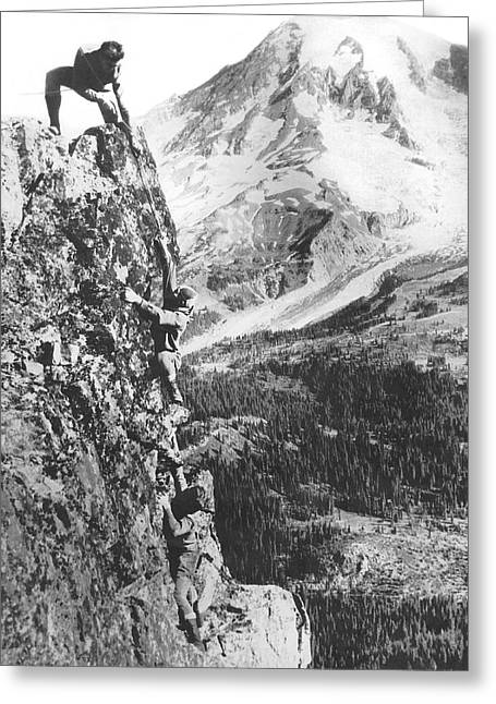 Climbers On Pinnacle Peak Greeting Card