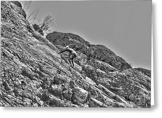 Climbing Greeting Card by Christian Jansen
