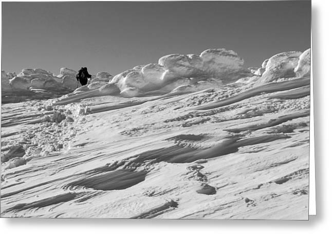 Climbing Mount Pierce Greeting Card