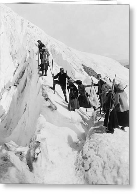 Climbing Paradise Glacier Greeting Card