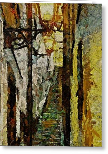 Climbing Stairs Of Paris Greeting Card by Dragica  Micki Fortuna