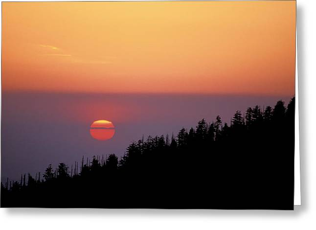 Clingman's Dome Sunset 02 Greeting Card