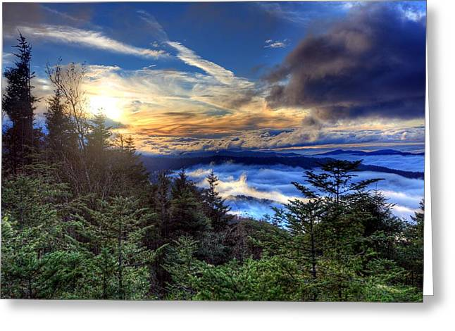 Clingman's Dome Sunset Greeting Card by Doug McPherson