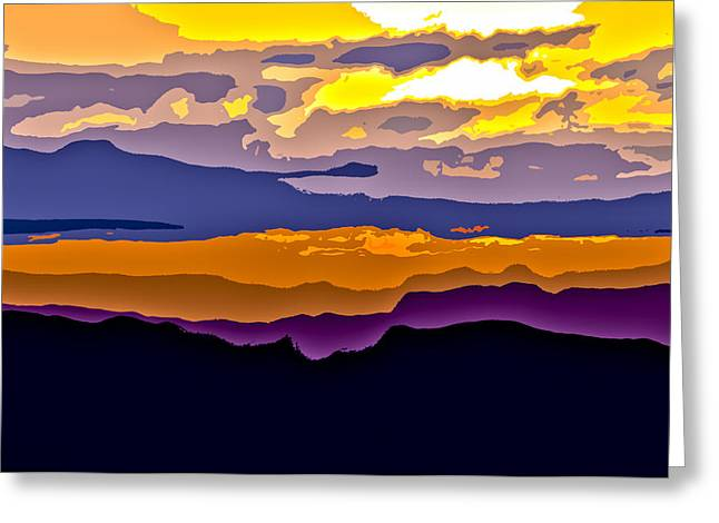 Greeting Card featuring the photograph Clingman's Sunrise Cut by David Stine