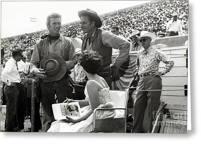 Clint Eastwood  Eric Fleming Characters Rowdy Yates Salinas California 1962 Greeting Card