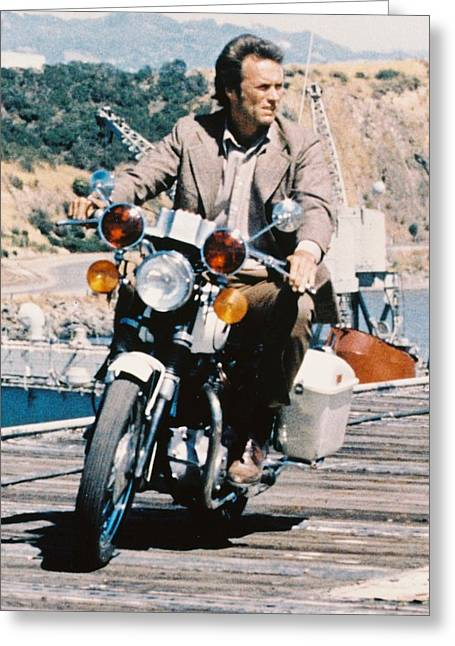 Clint Eastwood In Magnum Force  Greeting Card by Silver Screen
