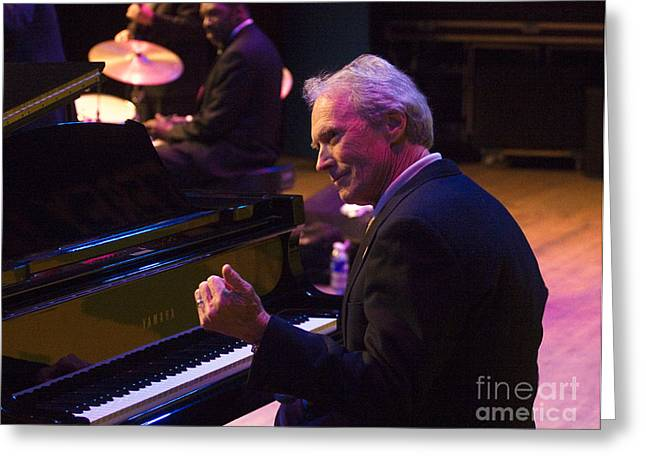 Clint Eastwood On Piano In Monterey Greeting Card