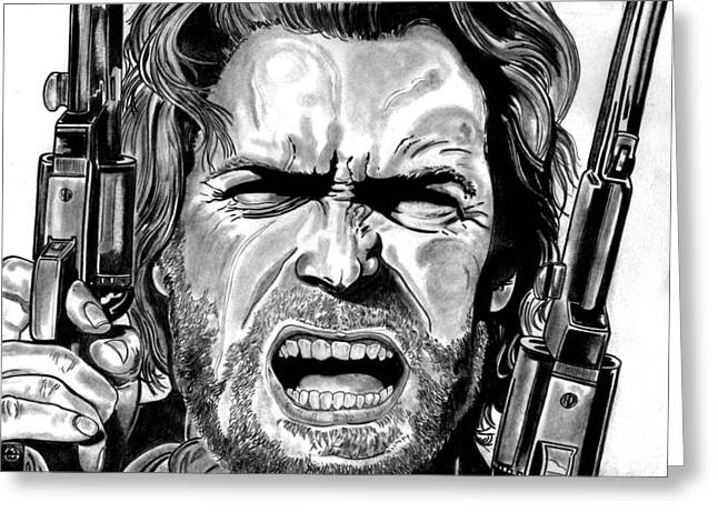 Clint Eastwood Greeting Card by Ralph Harlow