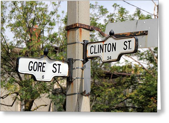 Clinton And Gore Greeting Card by Andrew Fare