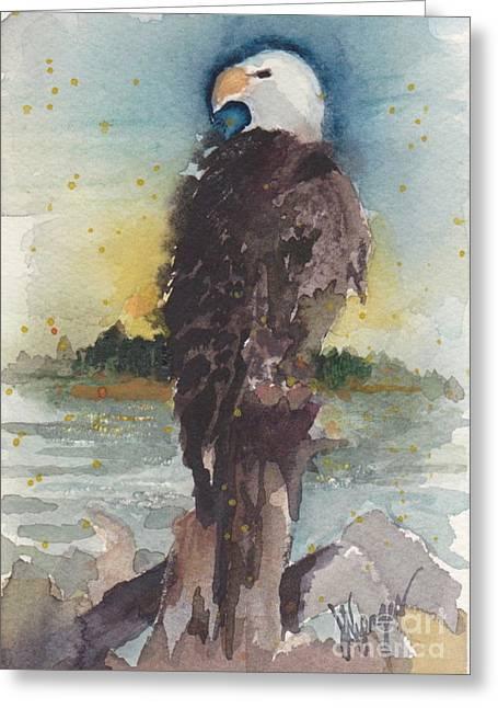 Clinton Eagle Greeting Card