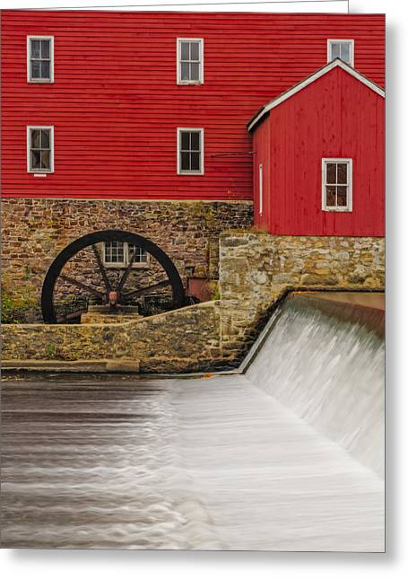 Clinton Historic Red Mill Greeting Card by Susan Candelario