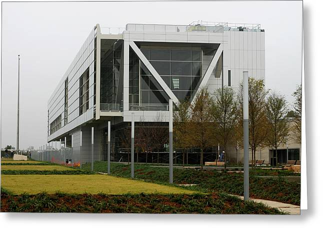Clinton Library In Little Rock Greeting Card by Carl Purcell