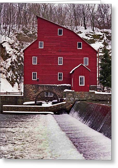 Clinton Mill Greeting Card by Skip Willits