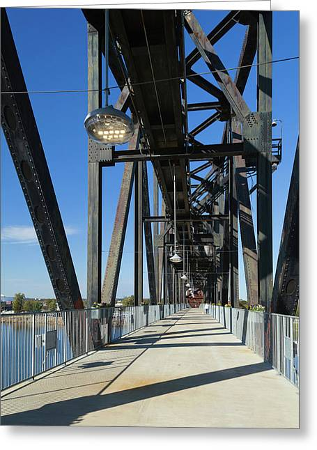 Clinton Presidential Park Bridge Greeting Card by Panoramic Images