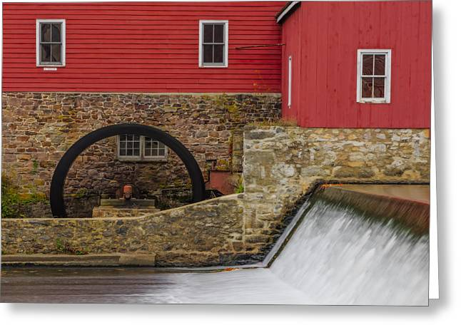 Clinton Red Mill Greeting Card by Susan Candelario