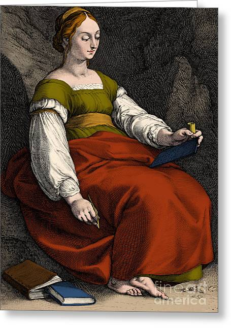 Clio Greek Muse Of History Greeting Card by Los Angeles County Museum