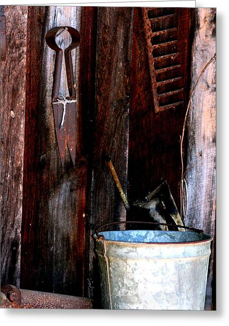 Greeting Card featuring the photograph Clippers And The Bucket by Lesa Fine