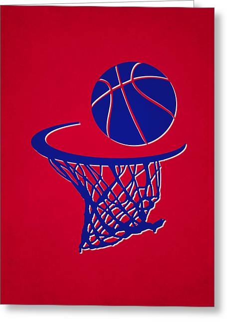Clippers Team Hoop2 Greeting Card by Joe Hamilton
