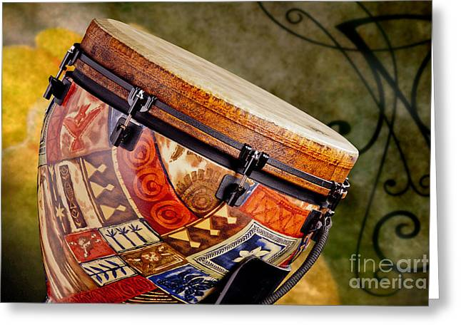 Clissic Djembe African Drum Photograph In Color 3334.02 Greeting Card by M K  Miller