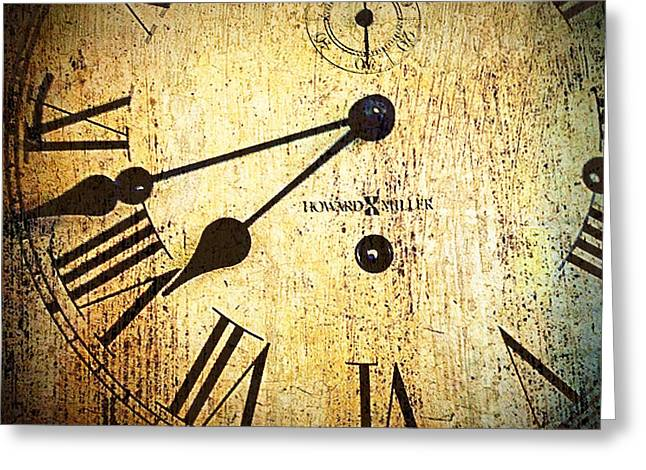 Clock Face Greeting Card by Suzanne Powers