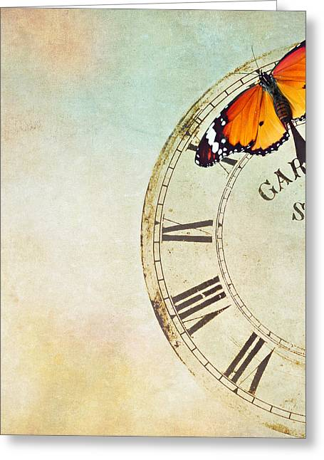 Clock Five To Twelve Greeting Card by Heike Hultsch