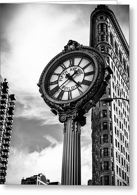 Clock Of Fifth Avenue Building Greeting Card