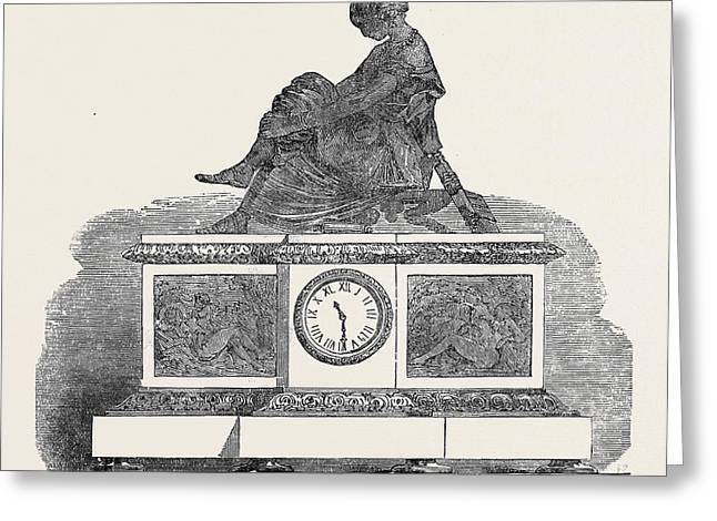 Clock, The Great Exhibition Greeting Card by Susse Freres , French